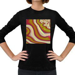Artificial Colorful Lava Background Women s Long Sleeve Dark T Shirts