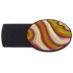 Artificial Colorful Lava Background Usb Flash Drive Oval (4 Gb)