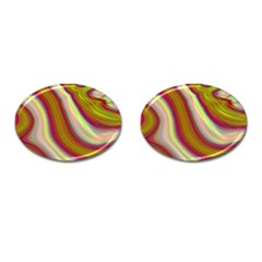 Artificial Colorful Lava Background Cufflinks (oval)