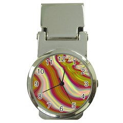 Artificial Colorful Lava Background Money Clip Watches