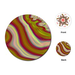 Artificial Colorful Lava Background Playing Cards (Round)