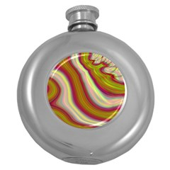 Artificial Colorful Lava Background Round Hip Flask (5 oz)