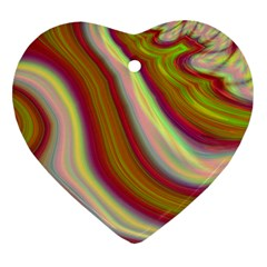 Artificial Colorful Lava Background Heart Ornament (two Sides)