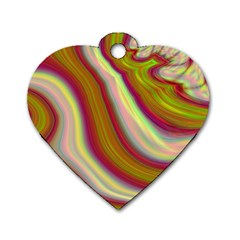 Artificial Colorful Lava Background Dog Tag Heart (Two Sides)