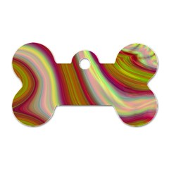 Artificial Colorful Lava Background Dog Tag Bone (one Side)