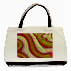 Artificial Colorful Lava Background Basic Tote Bag (two Sides)