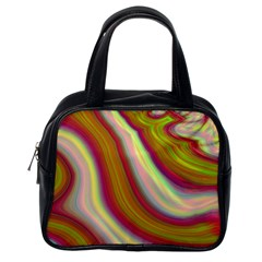 Artificial Colorful Lava Background Classic Handbags (One Side)