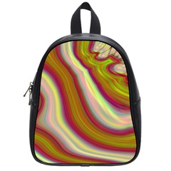 Artificial Colorful Lava Background School Bags (small)