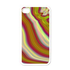 Artificial Colorful Lava Background Apple Iphone 4 Case (white)