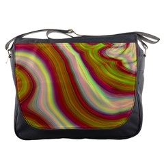 Artificial Colorful Lava Background Messenger Bags