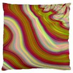 Artificial Colorful Lava Background Large Cushion Case (Two Sides)