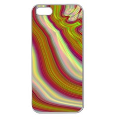 Artificial Colorful Lava Background Apple Seamless Iphone 5 Case (clear)
