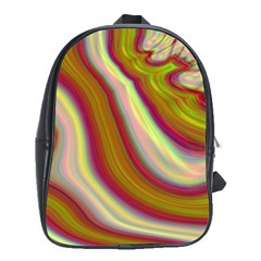Artificial Colorful Lava Background School Bags (XL)