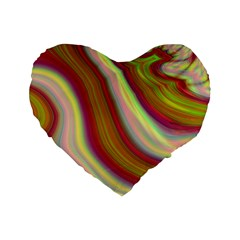 Artificial Colorful Lava Background Standard 16  Premium Heart Shape Cushions
