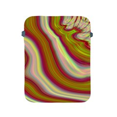 Artificial Colorful Lava Background Apple iPad 2/3/4 Protective Soft Cases