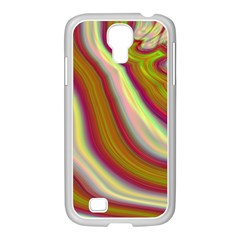 Artificial Colorful Lava Background Samsung GALAXY S4 I9500/ I9505 Case (White)