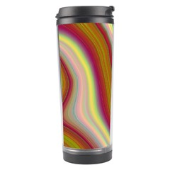 Artificial Colorful Lava Background Travel Tumbler