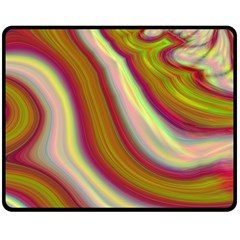 Artificial Colorful Lava Background Double Sided Fleece Blanket (Medium)