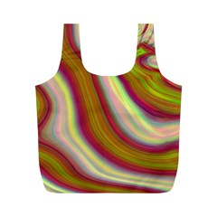 Artificial Colorful Lava Background Full Print Recycle Bags (M)