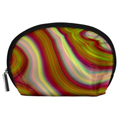 Artificial Colorful Lava Background Accessory Pouches (Large)