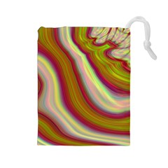 Artificial Colorful Lava Background Drawstring Pouches (Large)