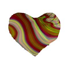 Artificial Colorful Lava Background Standard 16  Premium Flano Heart Shape Cushions