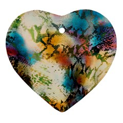 Abstract Color Splash Background Colorful Wallpaper Ornament (heart)