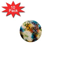 Abstract Color Splash Background Colorful Wallpaper 1  Mini Magnet (10 pack)