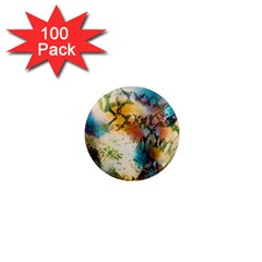 Abstract Color Splash Background Colorful Wallpaper 1  Mini Magnets (100 pack)