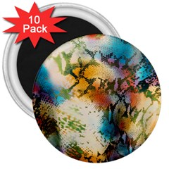 Abstract Color Splash Background Colorful Wallpaper 3  Magnets (10 pack)