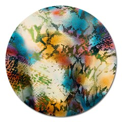 Abstract Color Splash Background Colorful Wallpaper Magnet 5  (Round)