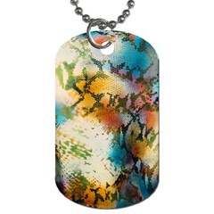 Abstract Color Splash Background Colorful Wallpaper Dog Tag (One Side)