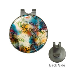 Abstract Color Splash Background Colorful Wallpaper Hat Clips With Golf Markers