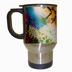 Abstract Color Splash Background Colorful Wallpaper Travel Mugs (white)