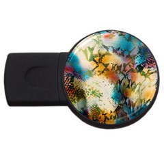 Abstract Color Splash Background Colorful Wallpaper USB Flash Drive Round (4 GB)
