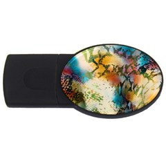 Abstract Color Splash Background Colorful Wallpaper USB Flash Drive Oval (4 GB)