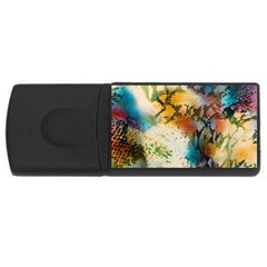 Abstract Color Splash Background Colorful Wallpaper USB Flash Drive Rectangular (4 GB)