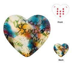 Abstract Color Splash Background Colorful Wallpaper Playing Cards (heart)