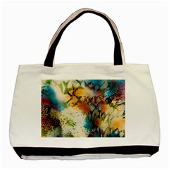 Abstract Color Splash Background Colorful Wallpaper Basic Tote Bag