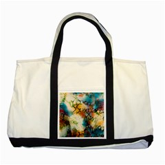 Abstract Color Splash Background Colorful Wallpaper Two Tone Tote Bag