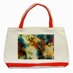 Abstract Color Splash Background Colorful Wallpaper Classic Tote Bag (Red)