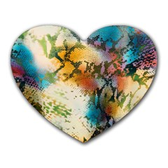 Abstract Color Splash Background Colorful Wallpaper Heart Mousepads