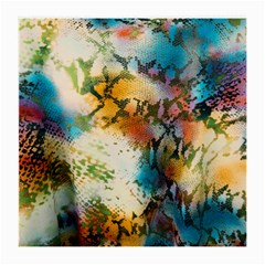 Abstract Color Splash Background Colorful Wallpaper Medium Glasses Cloth (2-Side)