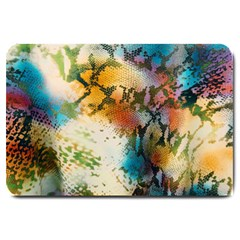 Abstract Color Splash Background Colorful Wallpaper Large Doormat