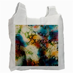 Abstract Color Splash Background Colorful Wallpaper Recycle Bag (one Side)