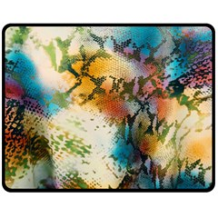 Abstract Color Splash Background Colorful Wallpaper Fleece Blanket (medium)