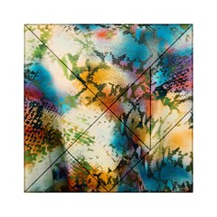 Abstract Color Splash Background Colorful Wallpaper Acrylic Tangram Puzzle (6  x 6 )