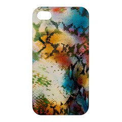 Abstract Color Splash Background Colorful Wallpaper Apple iPhone 4/4S Premium Hardshell Case