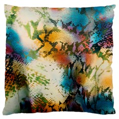 Abstract Color Splash Background Colorful Wallpaper Large Cushion Case (One Side)