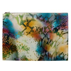Abstract Color Splash Background Colorful Wallpaper Cosmetic Bag (xxl)